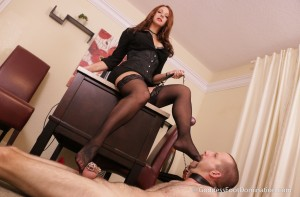 Office Stocking Slave