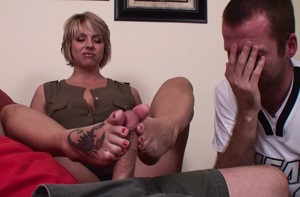 Footjob gone bad