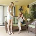 Foot Girl Worships Boss Poolside